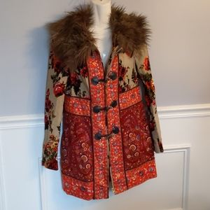 Anthropologie Elevenses mid length coat